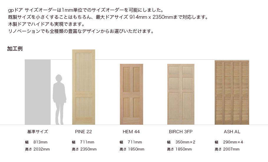 ドア 大きさ 室内